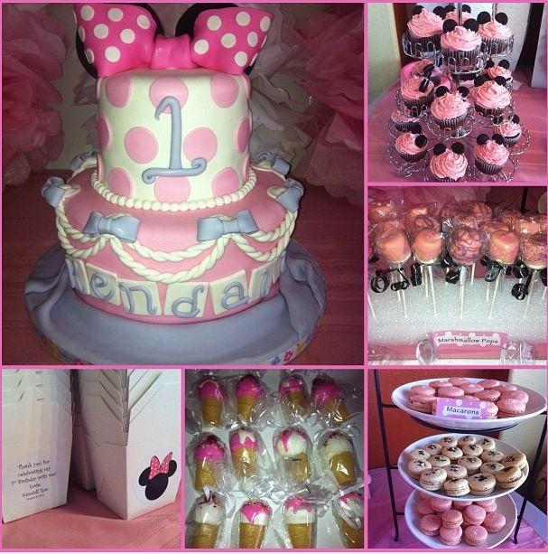 My baby girls Minnies BowTique 1st Birthday party 3rd Birthday