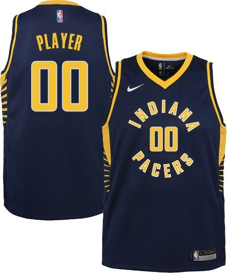 00daa561f16 Nike Youth Full Roster Indiana Pacers Navy Dri-FIT Swingman Jersey, Size:  Medium, Blue