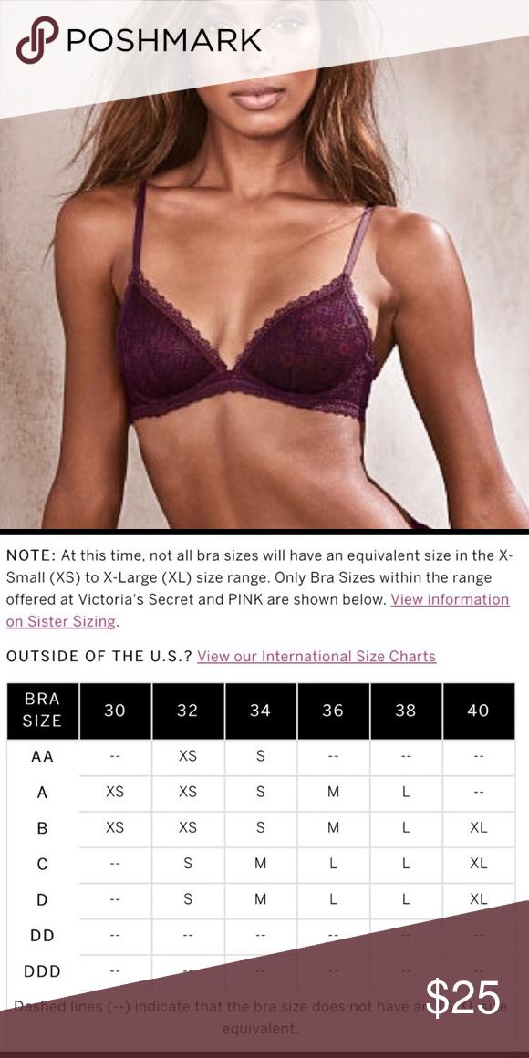 ab51577d58ea Victoria s Secret front close semi padded bralette Victoria s Secret brand  new lace semi padded bra size