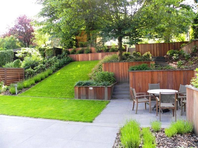 Tuin met niveauverschil google zoeken tuin pinterest for Amenager petit jardin 50m2