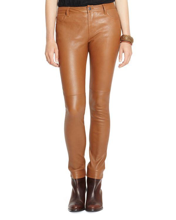 Lauren Ralph Lauren Leather Skinny Pants