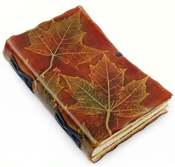 Maple Leaves Ornament Leather Book / Journal / Diary / Sketchbook