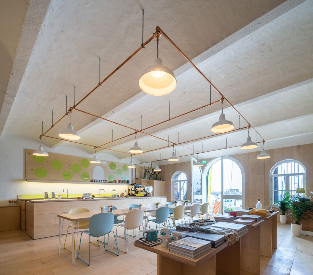 Kitchen Store Design: Coastal Cafe By Haptic Features Cabin-shaped