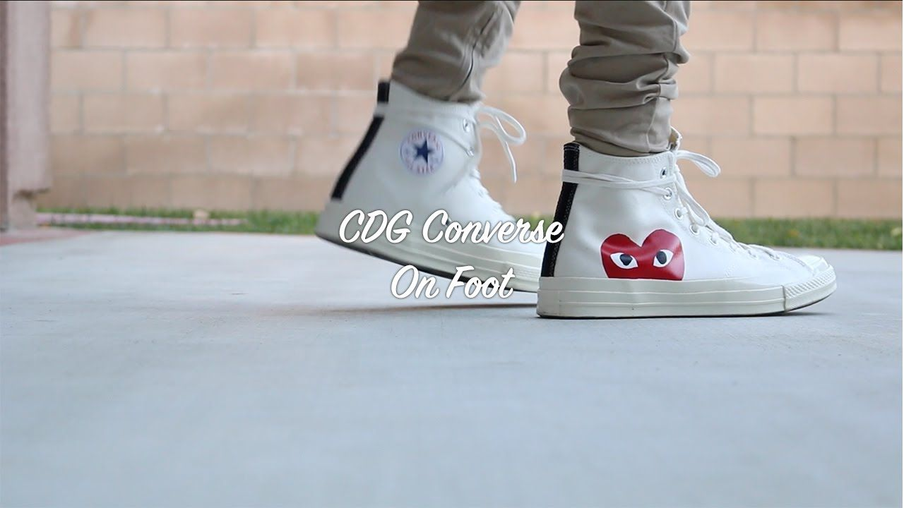 4ddfe5219d72 CDG Converse On Foot Cdg Converse