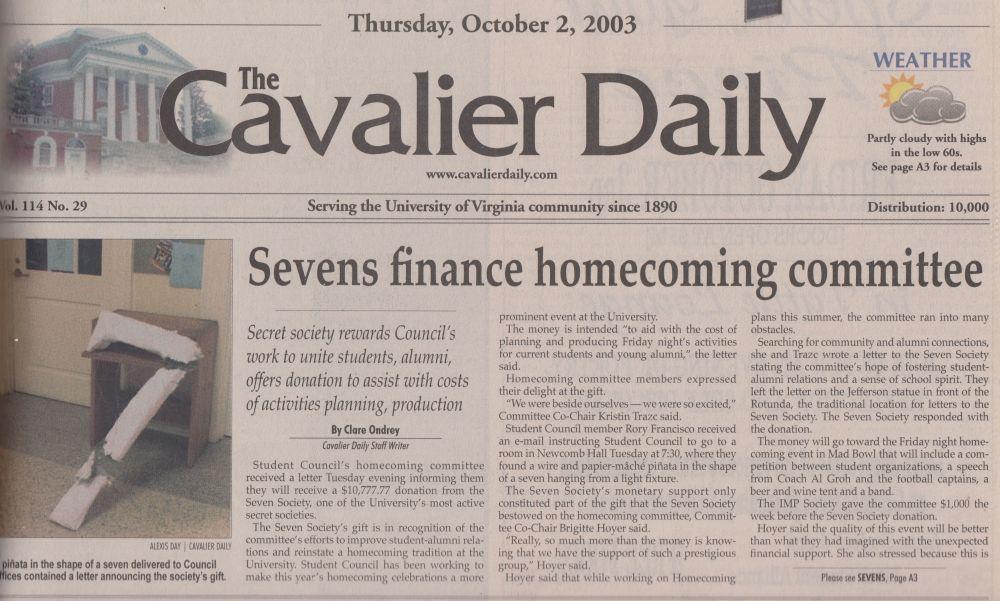 Cavalier Daily & Seven Society | UVA Inspiration | Travel