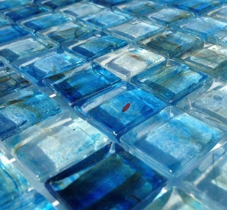 Clear Glass Mosaic Tile Stained Blue 12x12 Tile Stained Mosaic Glass Mosaic Tiles