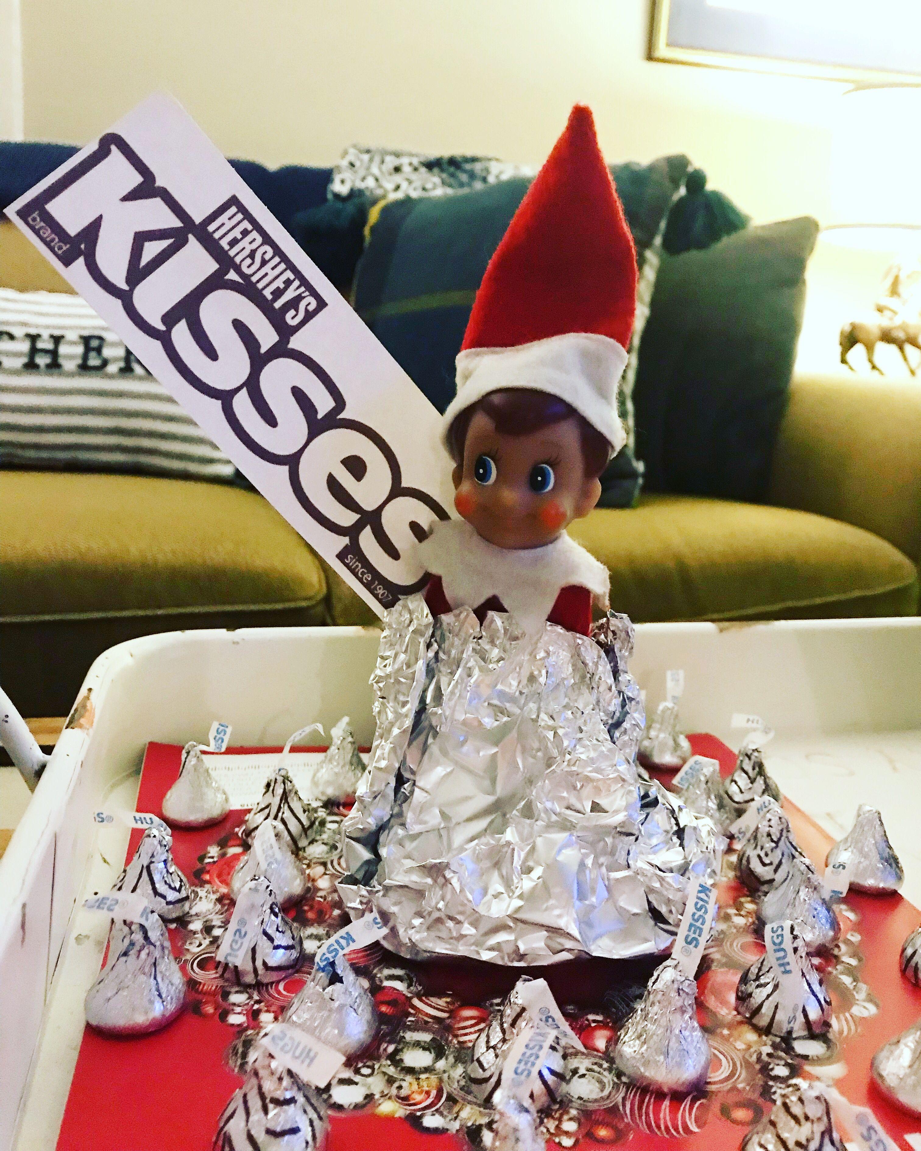 So easy... print Hershey kids logo and wrap in foil! Elf