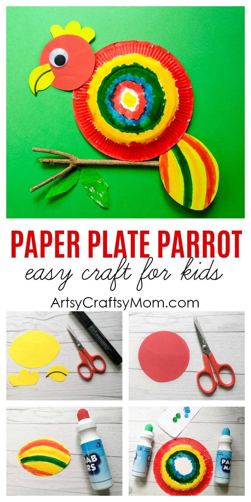 Paper Plate Parrot Craft   Make \'n take   Pinterest   Parrot craft ...