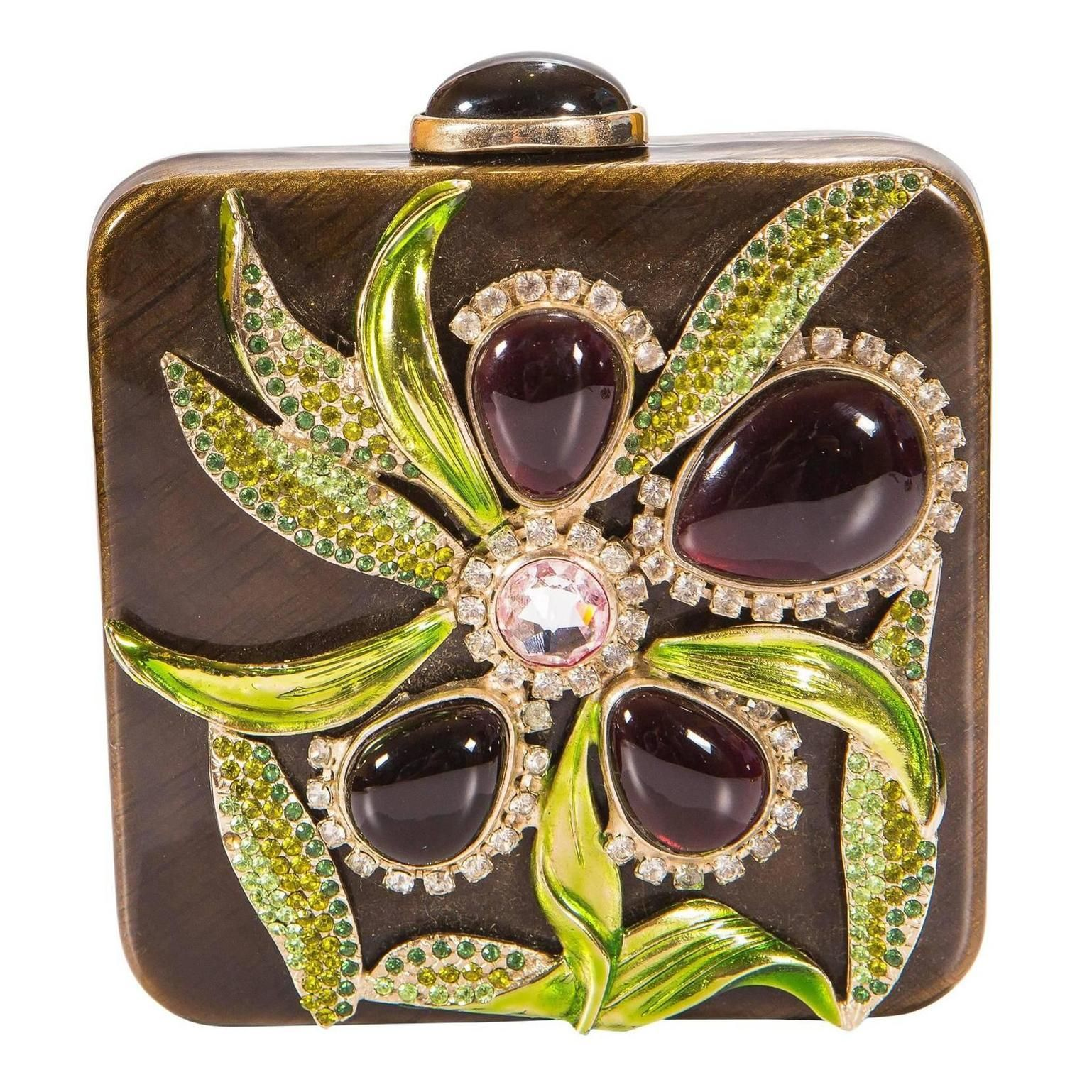 Tom Ford For Yves Saint Laurent S 2004 Jeweled Crystal Clutch From A