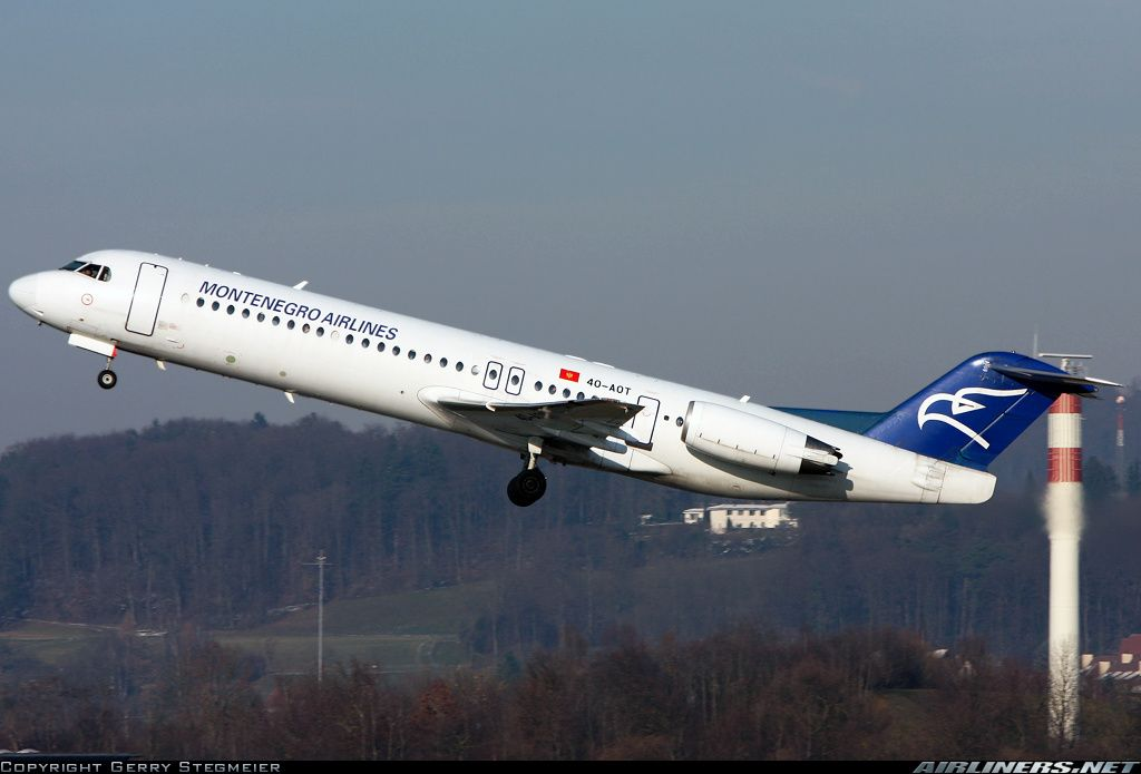 Montenegro Airlines 4O-AOT Fokker 100 (F-28-0100) aircraft picture