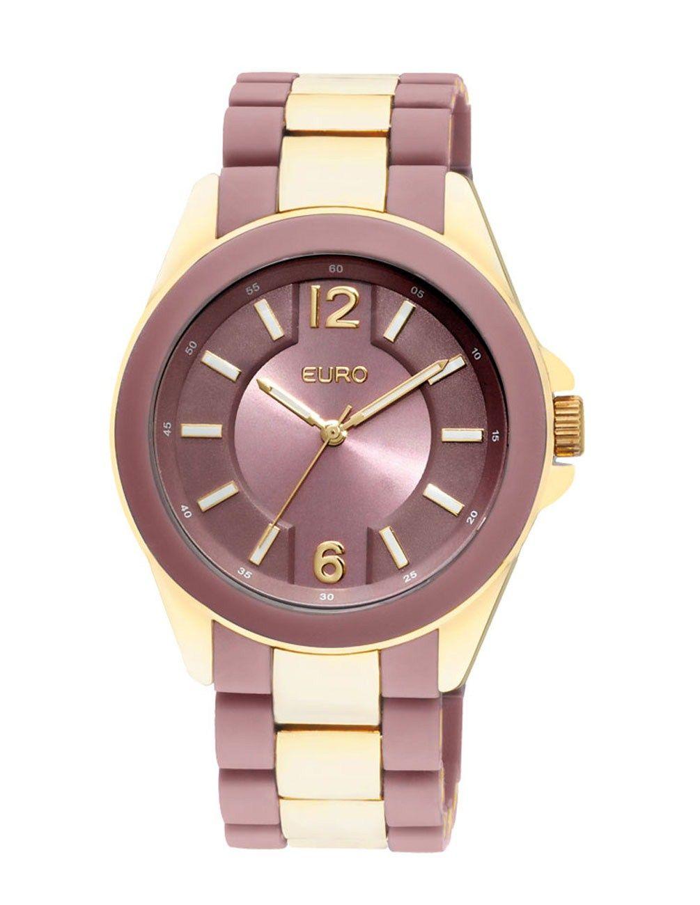 Relógio Feminino Analógico Euro Lier EU2036AP 4M - Dourado e Bege - Relógios  no E-Euro e71e7cec24