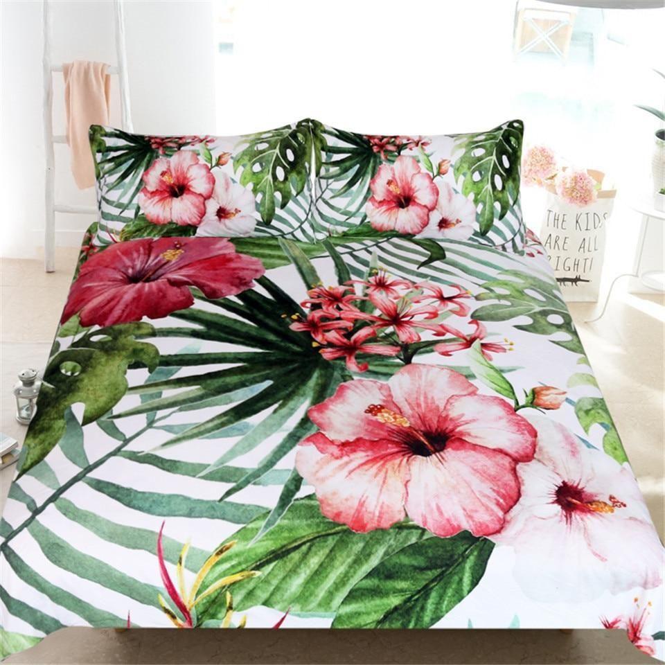 Tropical Hibiscus Bedding Set Tropical Bedrooms Tropical Bedding Tropical Home Decor