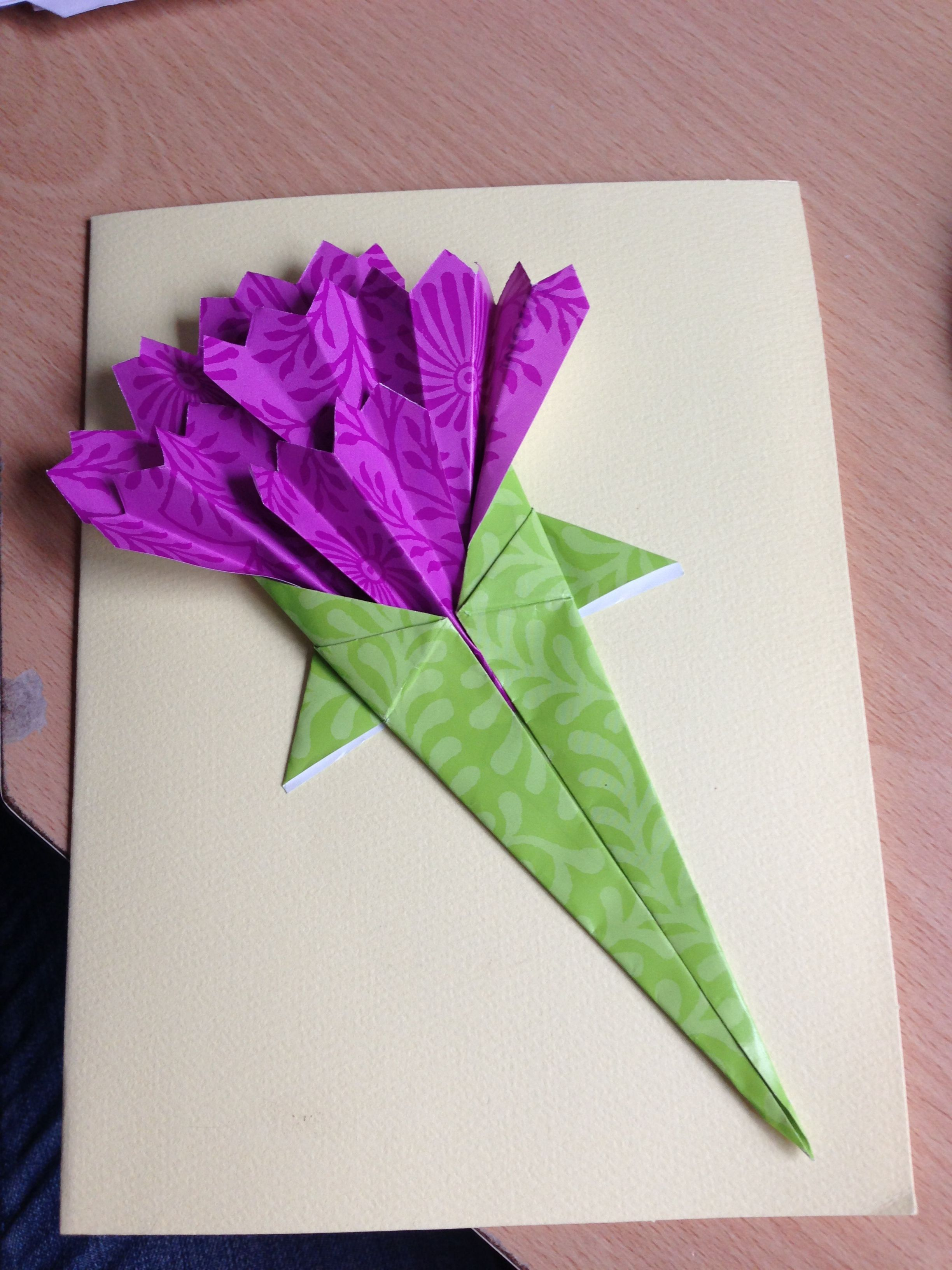Origami Flowers Card I Made For Mothers Day Origami 3