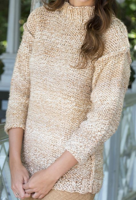 Free Knitting Pattern For Easy Quick Relaxed Sweater Easy Pullover
