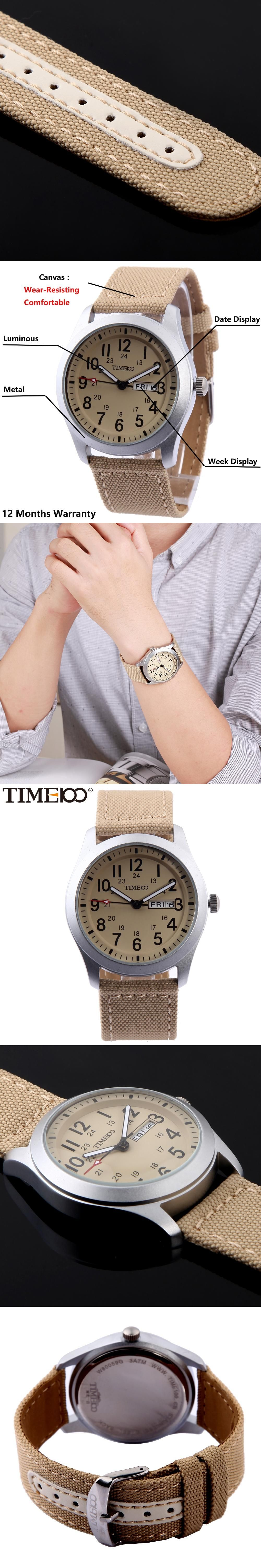 series strap canvas htm watches model khaki