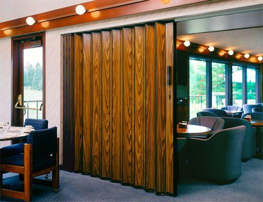 Accordion Doors Make Attractive Efficient Acoustic Partitions