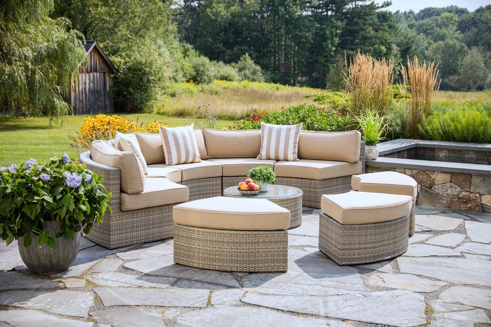 Gray Santorini 9 Piece Outdoor Daybed