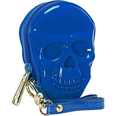 Loungefly True Blue 3D Skull Coin Bag Blue/Multi - Loungefly Ladies Small Wallets