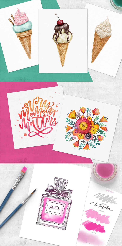 Procreate Watercolor Brush Set Aff Wedding Invitations Cards