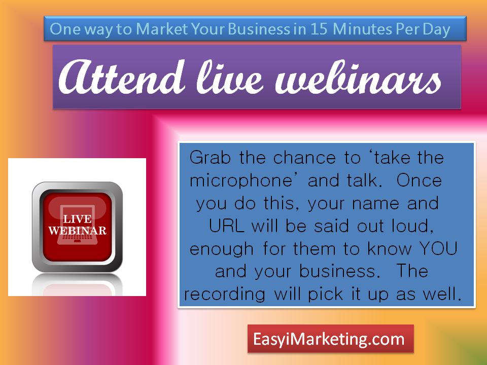 One way to market your business in 15 minutes per day