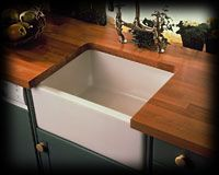 Farmhouse Sink With Rich Wood Counter