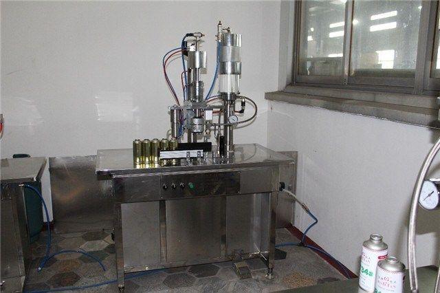 Semi Automatic Spray Ball Aerosol Filling Machine     More: https://www.aerosolmachinery.com/sale/semi-automatic-spray-ball-aerosol-filling-machine.html
