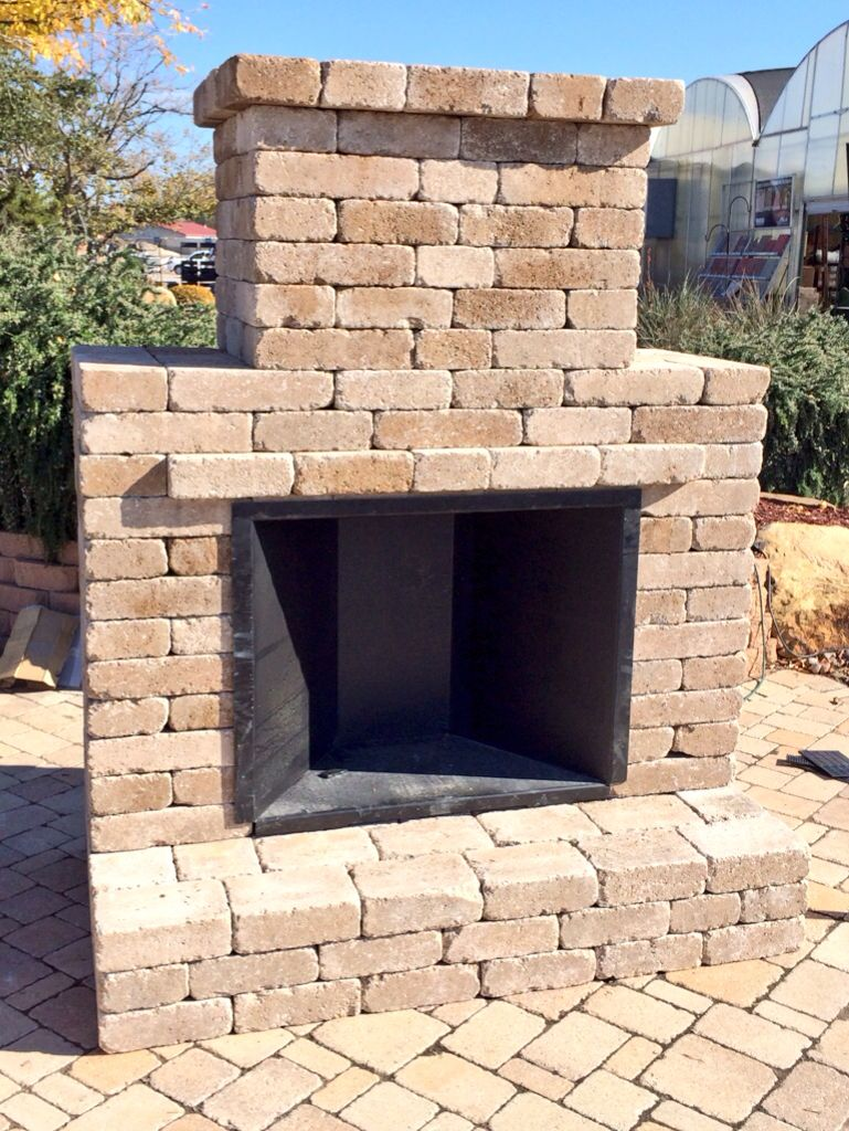 Simple and elegant outdoor fireplace kit by Whiz-Q Stone ... on Simple Outdoor Fireplace Ideas id=98063