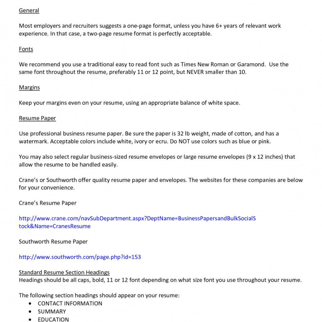 Teen Resumes | Guidelines 3 Resume Format Resume Format Resume