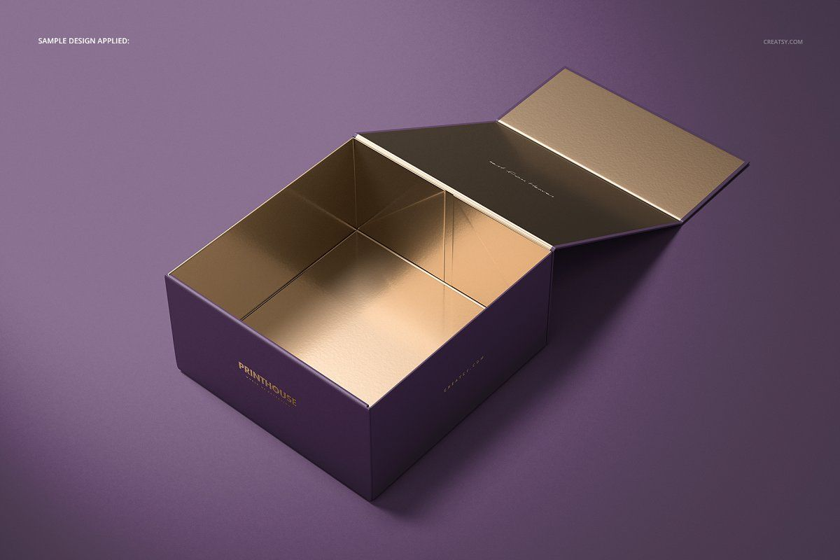 Download Magnetic Gift Box Mockup Set 02 Magnetic Gift Box Box Mockup Gift Box