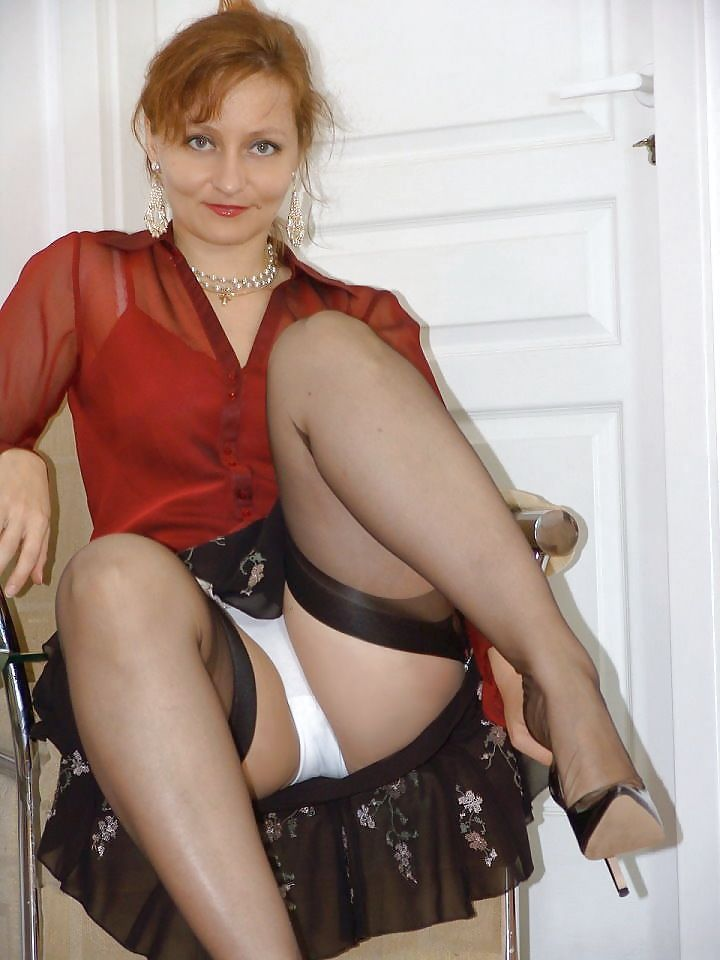 image Kirsty blue black stockings amp sexy ass