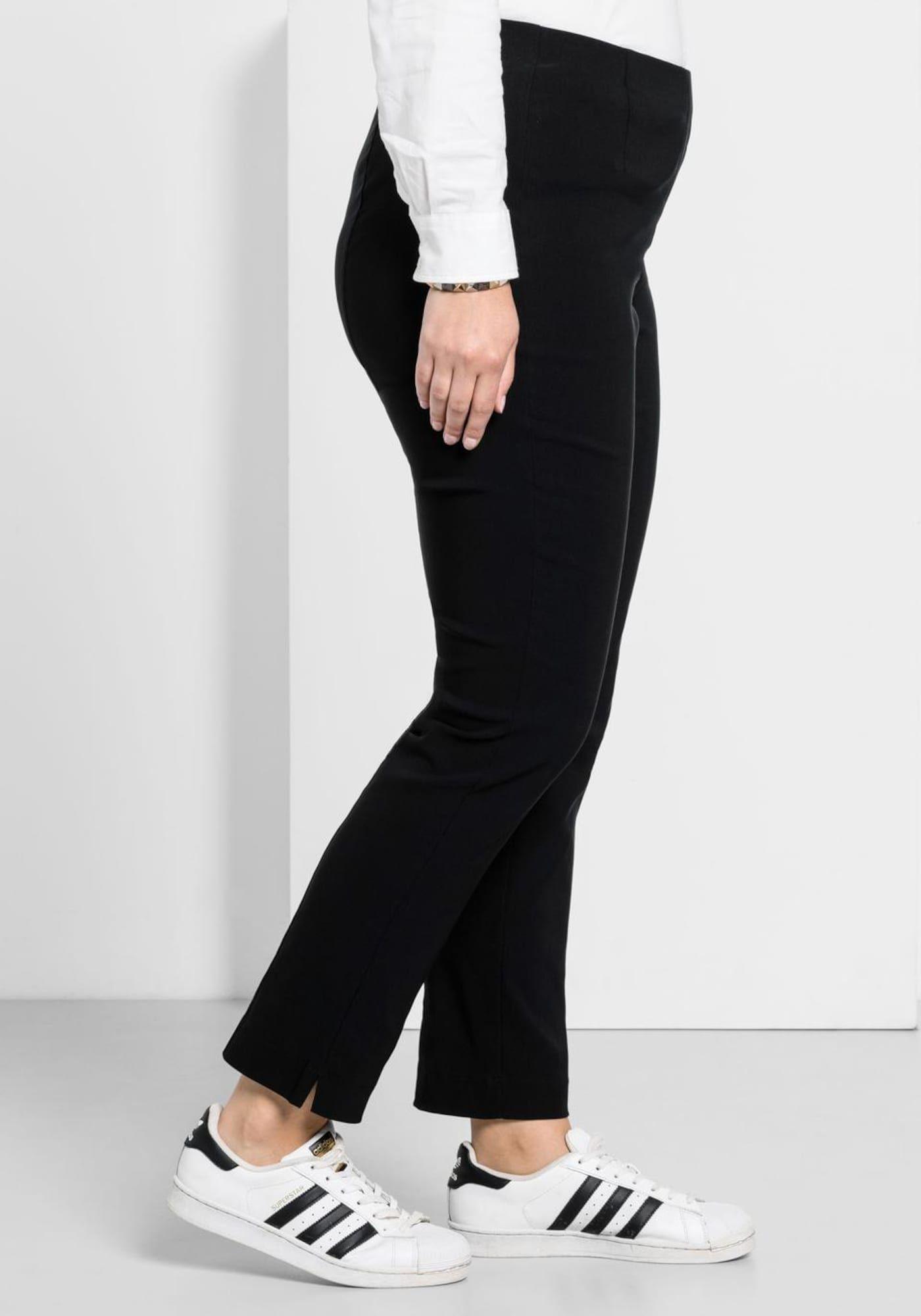 Photo of Pantaloni SHEEGO con spacchi sul fondo donna, nero, taglia 58