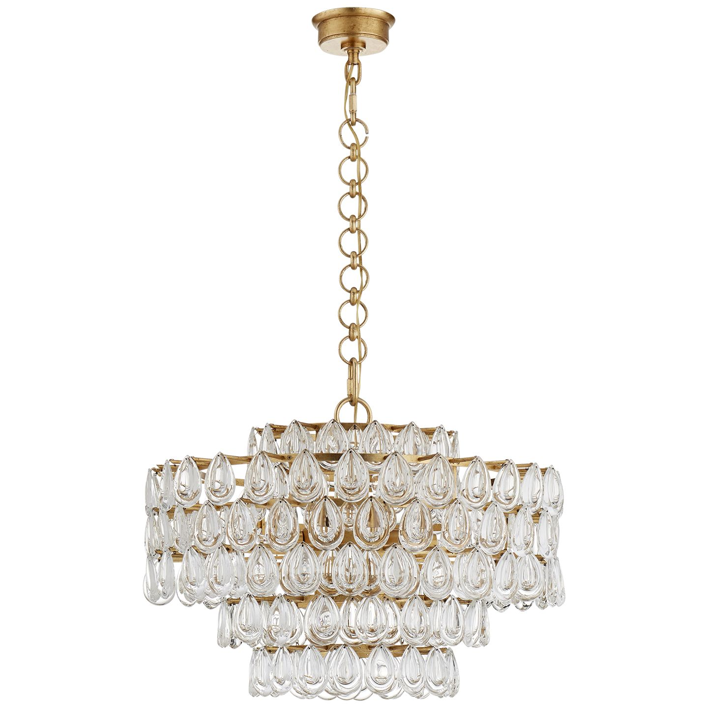 Visual Comfort ARN5173G-CG AERIN Liscia Chandelier in Gild with Crystal |  FoundryLighting.com - Visual Comfort ARN5173G-CG AERIN Liscia Chandelier In Gild With