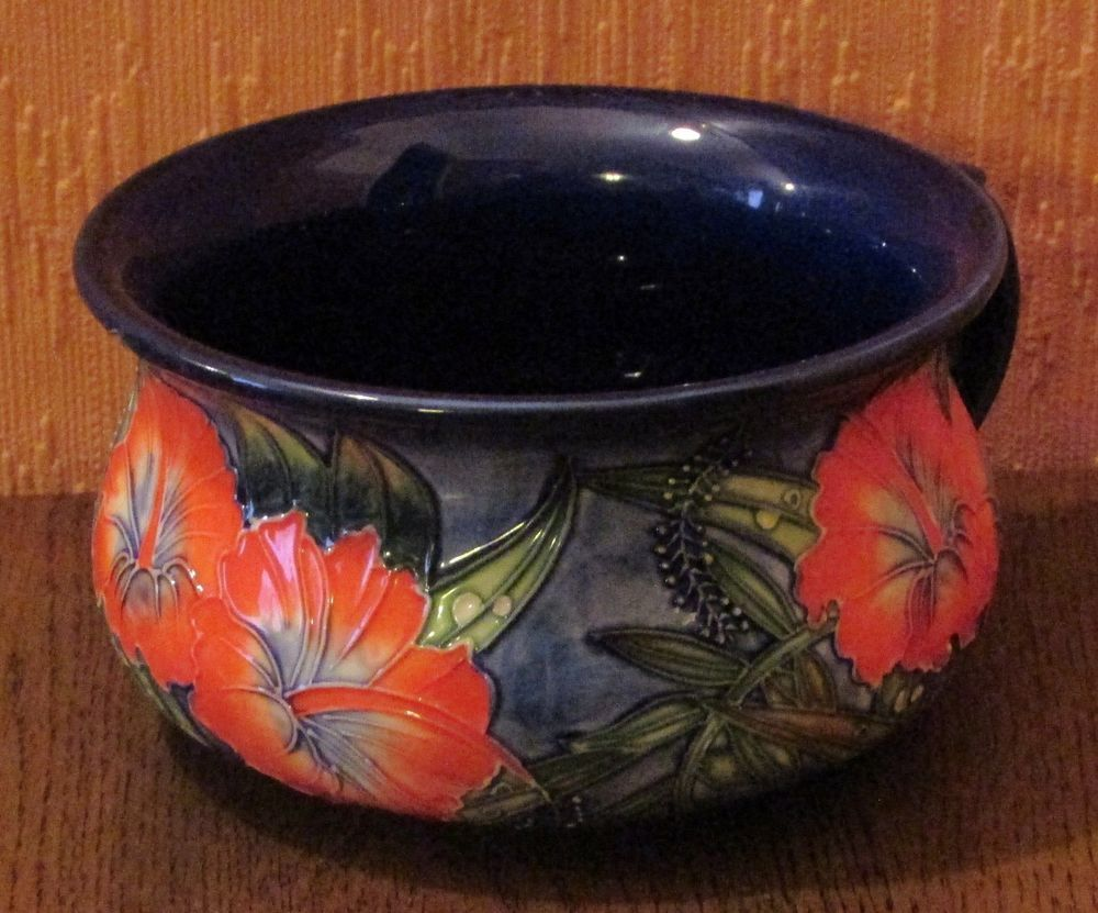Old Tupton Ware Hand Painted Chamber Pot In Hibiscus Design Hand Painted Painting Hibiscus