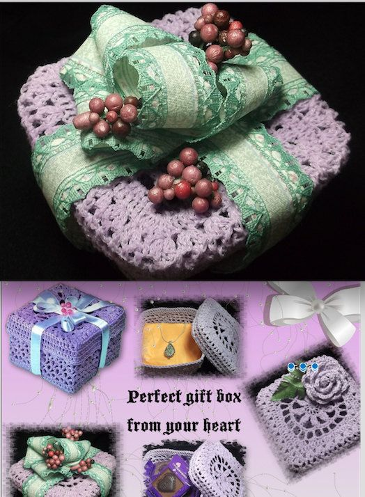 Crochet Gift Box for Mother's Day to hold the Perfect Present Crochet Pattern