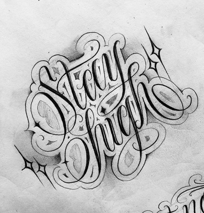Stay high Chicano tattoos lettering, Tattoo lettering