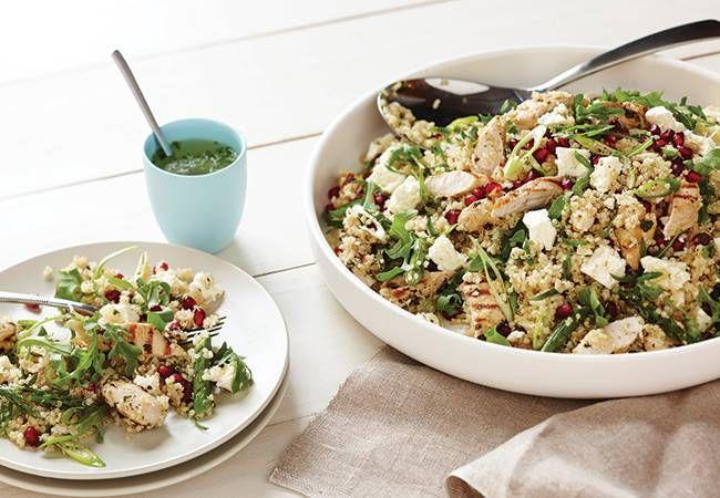 Quinoa, chicken and feta salad recipe - Women's Health and Fitness Magazine