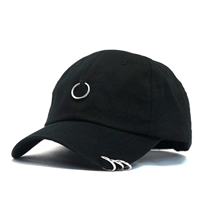 846859e39a7 METAL RINGS COTTON BASEBALL CAP ( 18) ❤ liked on Polyvore featuring  accessories