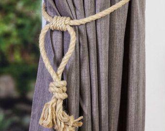 Jute And Hemp Rope Tassel Nautical Curtain Tie Backs Hemp Rope