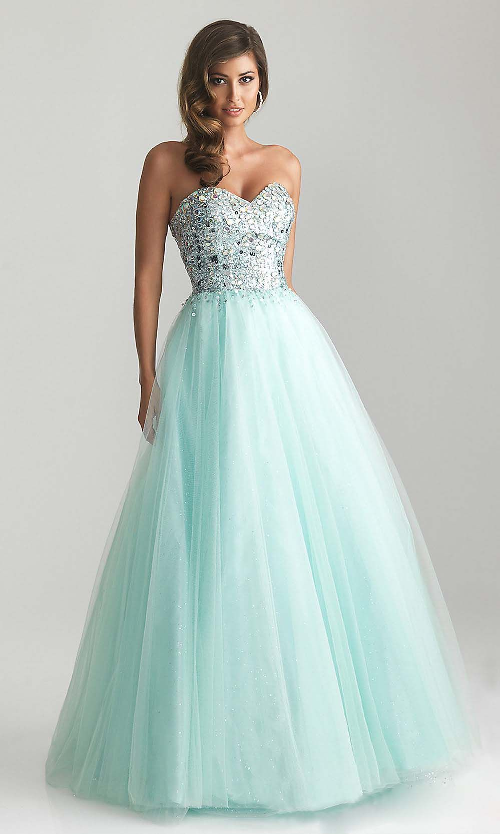 A line prom dress, tiffany blue prom dresses, affordable prom dress ...