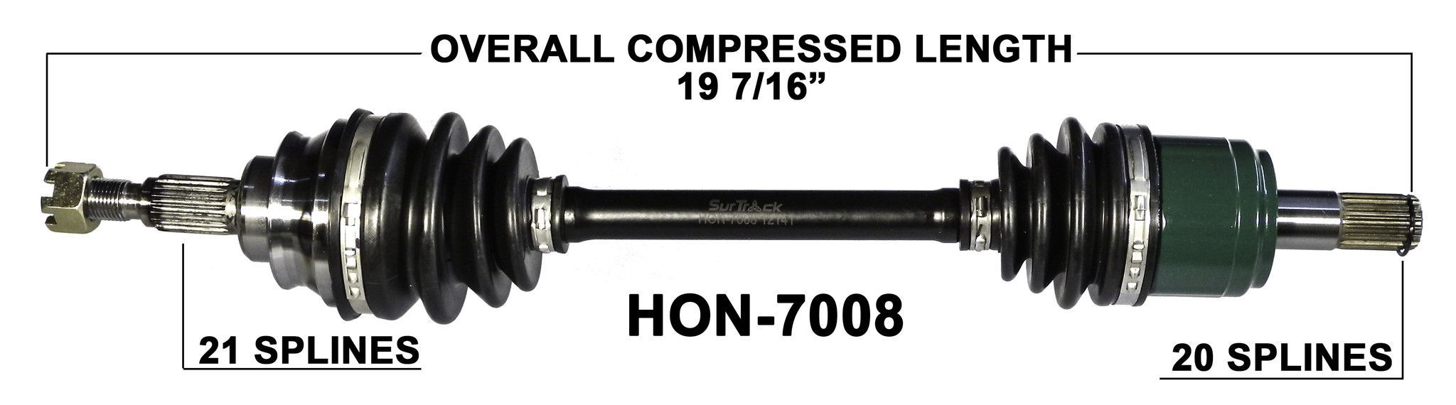 for Arctic Cat 400 500 4X4 2005-2014 Rear Right and Left CV Joint Axle