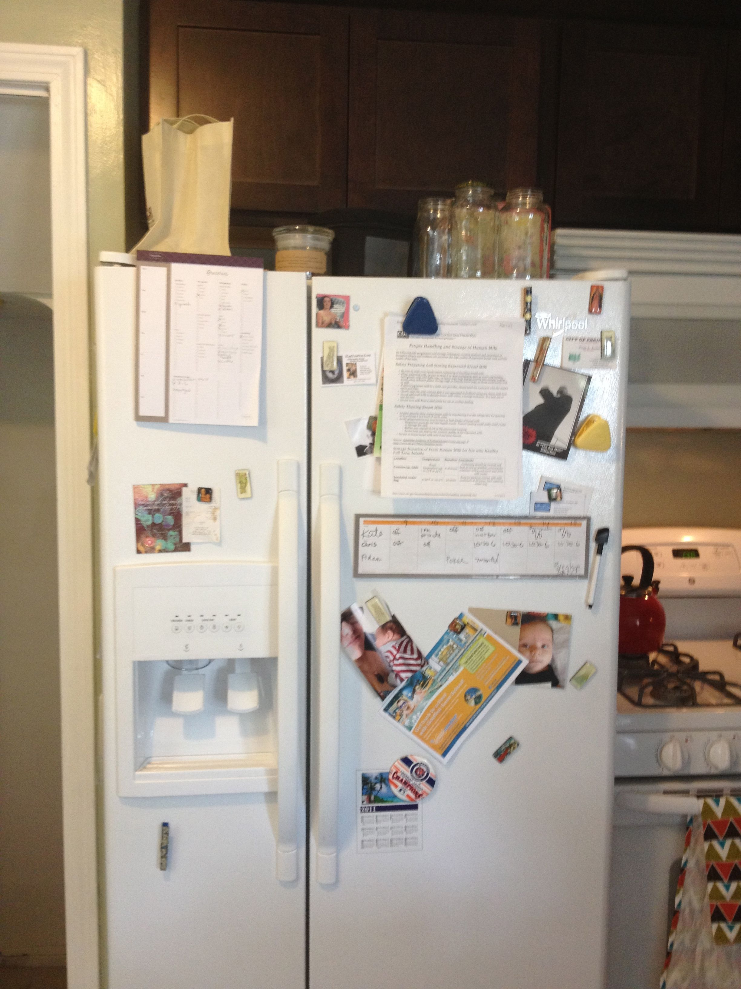 exterior fridge; before #kitchncure