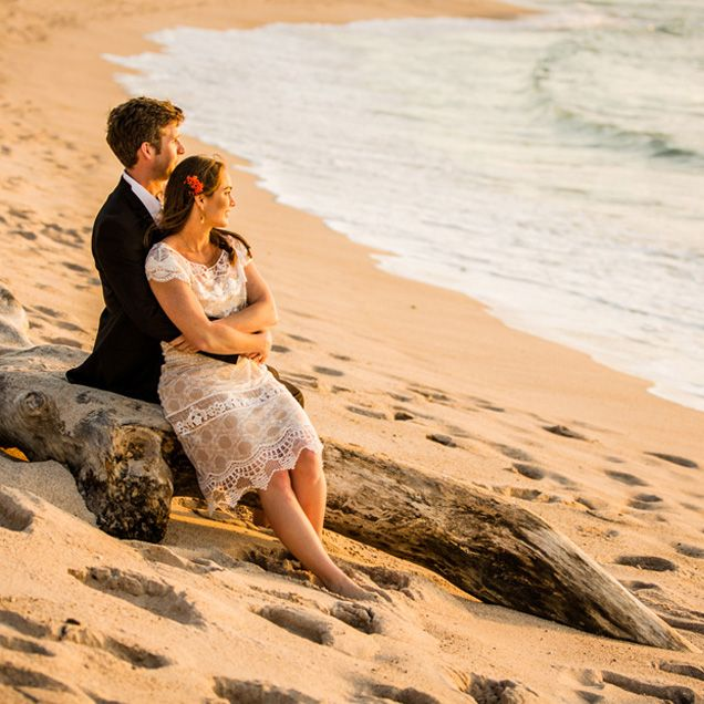 The Couple Take In Beauty Of Pacific Wedding NightWedding