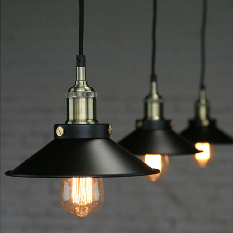 Aliexpress Com Buy Loft Vintage Iron Black Pendant Lights