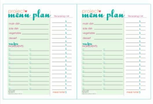 dinner party menu plan free printable
