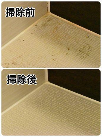 お風呂場の床の黒ずみを10分の掃除で綺麗にできた方法 家のお掃除