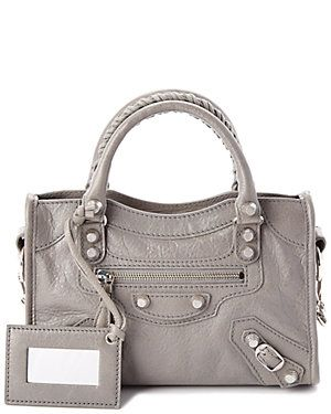 Balenciaga Giant 12 Silver Mini City Leather Crossbody