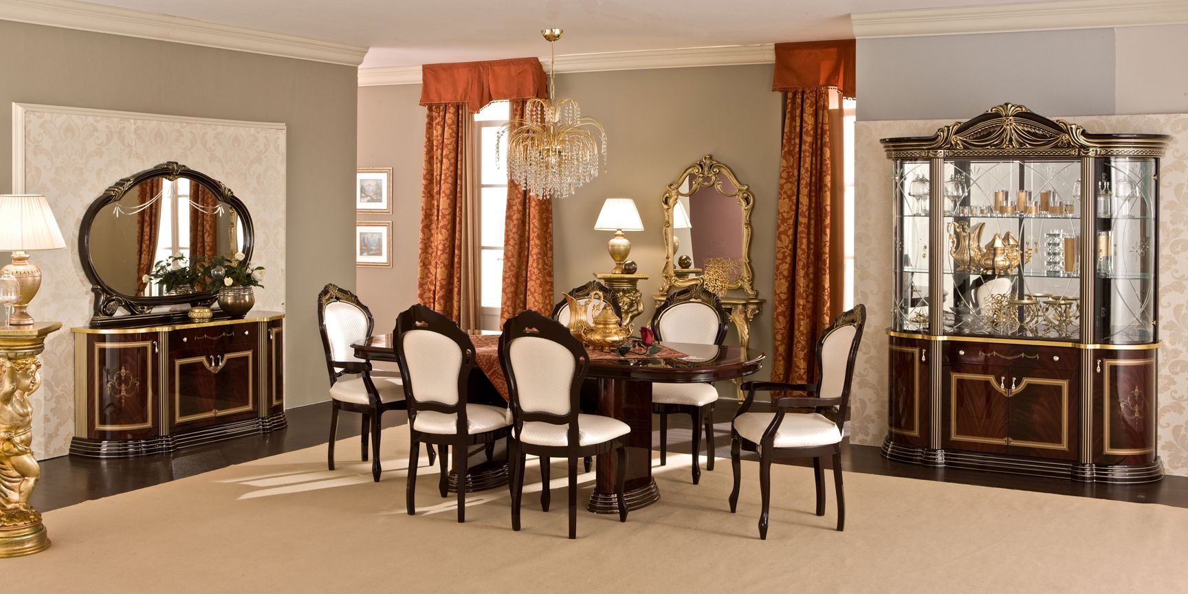 Mahogany Dining Room Furniture A Timeless Beauty With An Imperial Look Minimalist Dining Room Dining Room Furniture Modern Wooden Dining Room Furniture