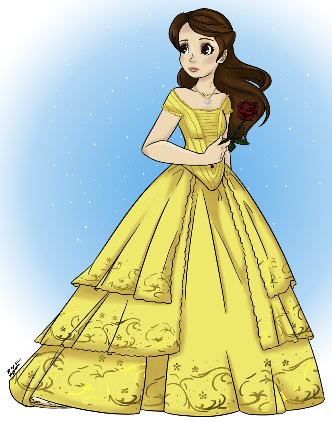 Up A Little Later Than Usual Is Speedpaint Saturday I Decided To Draw Belle This Week Because The Live Action Beauty And Beast Opened Weekend