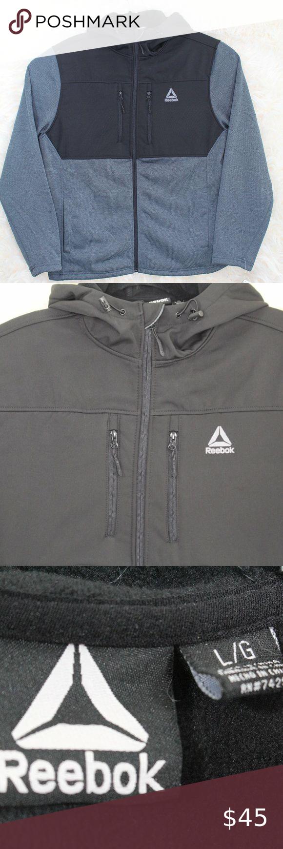 Reebok Men S Softshell Swacket Jacket Jackets Outerwear Jackets Softshell [ 1740 x 580 Pixel ]