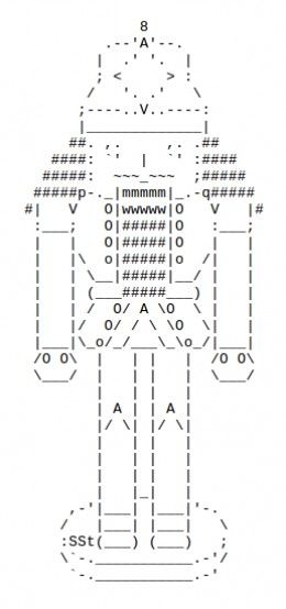 The Christmas Nutcracker In Ascii Text Art Text Art Ascii Art Emoji Art